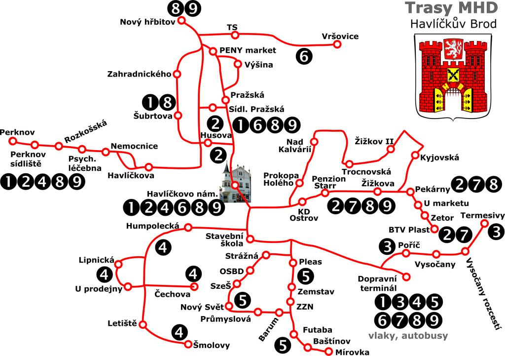 Mapa MHD 2015