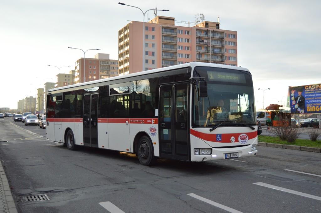 linka 9 Kladno,,Nám. Svobody ČSAD MHD Kladno Irisbus Crossway LE 12M 9S8 0384