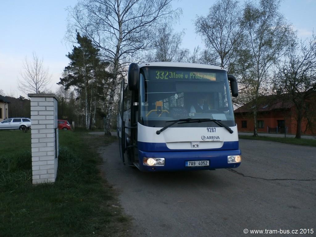 3756 - linka 332 Kamenice,Prosečnice Arriva Praha SOR C 12 7A9 4052