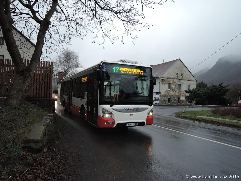 030 - linka 17 Brná DP Ústí nad Labem Iveco Urbanway 12M 79