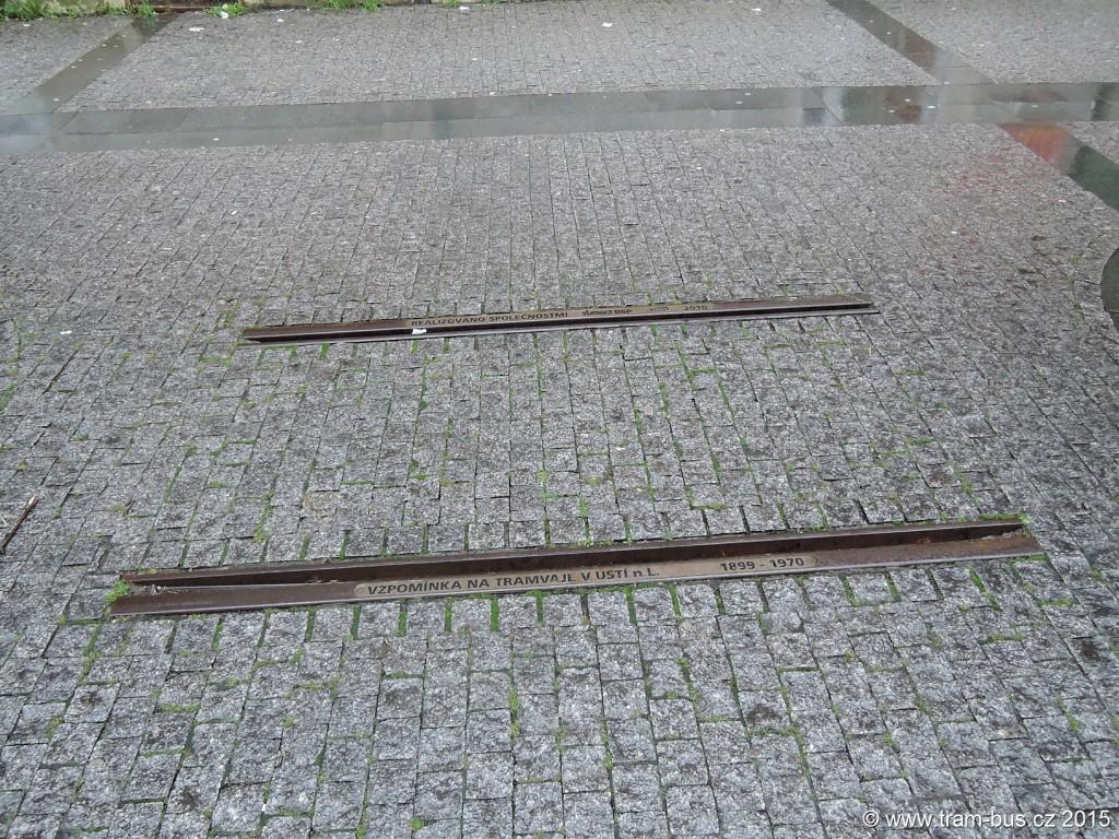 036 - vzpomínka na tramvaje v Ústí nad Labem pomník