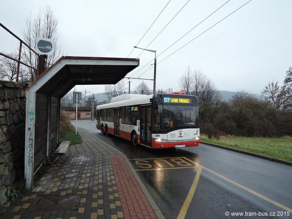 063 - linka 57 Mojžíř DP Ústí nad Labem Škoda 28Tr 425