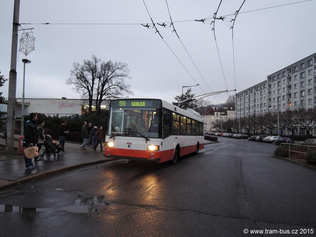 071 - linka 58 Ústí nad Labem,,OD Květ DP Ústí nad Labem Škoda 21Tr 406
