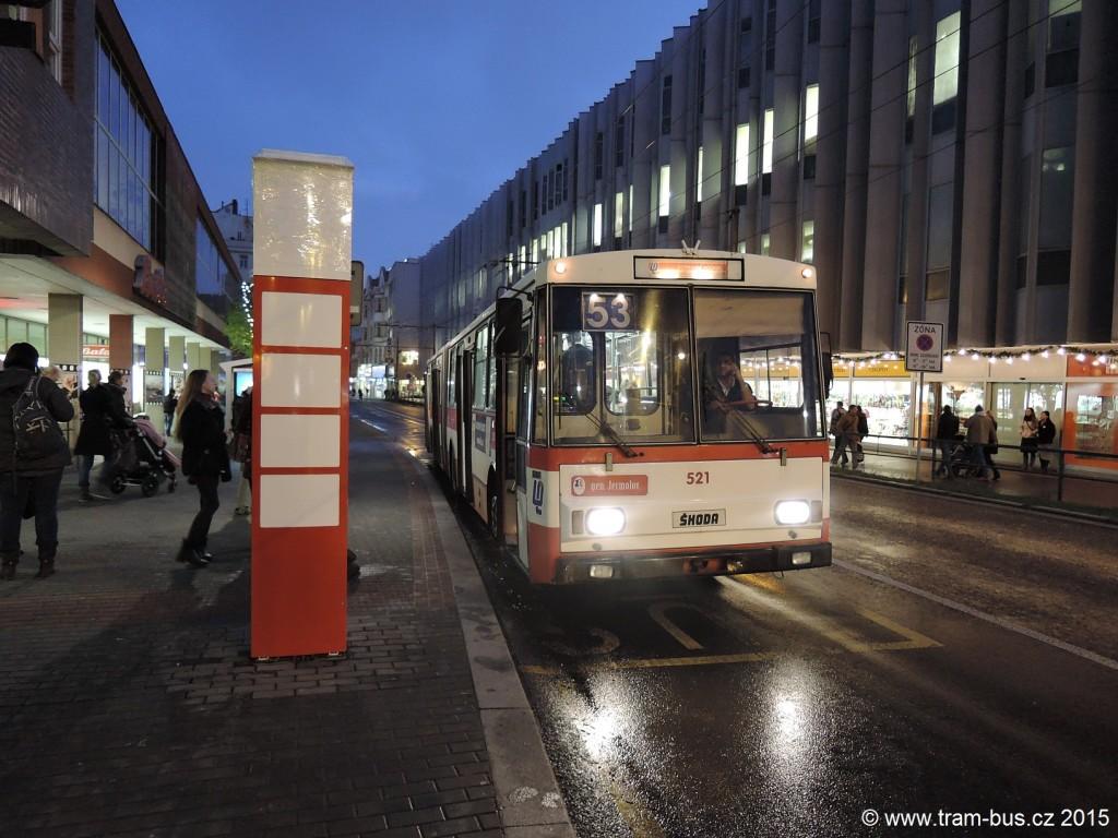 076 - linka 53 Ústí nad Labem,,Divadlo DP Ústí nad Labem Škoda 15Tr 521