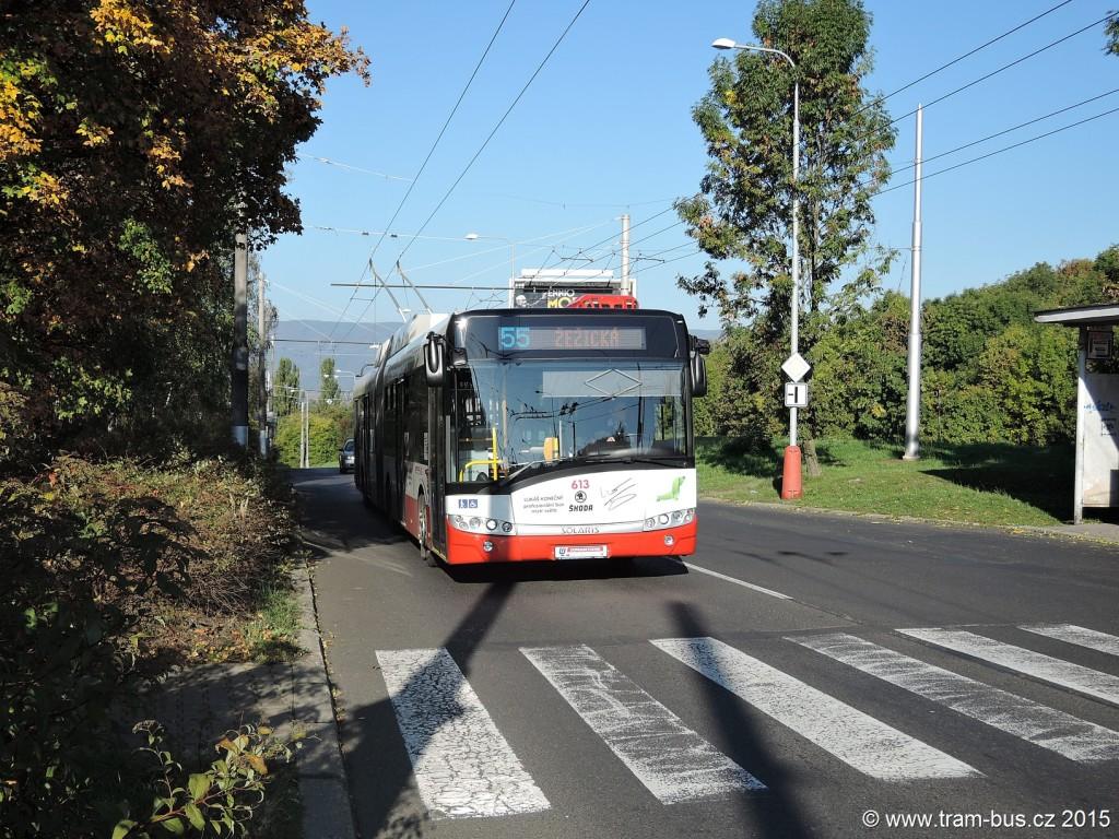 088 - linka 55 Ústí nad Labem,,Mírová DP Ústí nad LabemŠkoda 27Tr 613