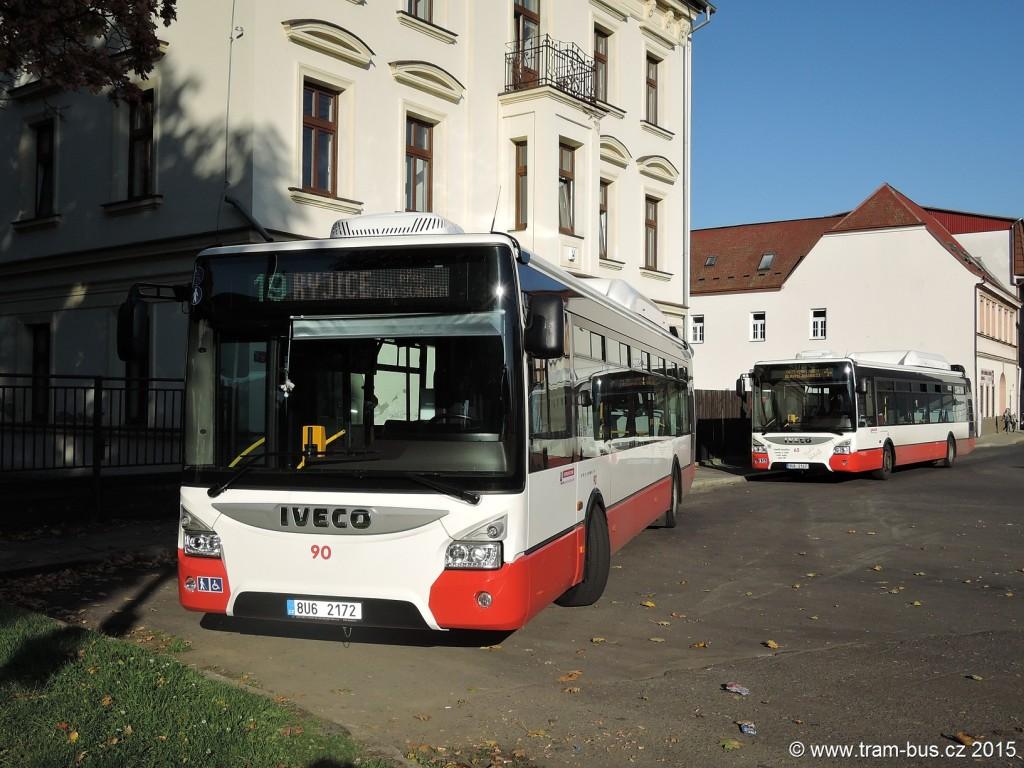 107 - linka 3 a 19 Trmice,,Václavské náměstí DP Ústí nad Labem Iveco Urbanway 12M 65 a 90