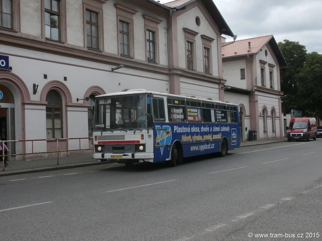 156 - linka 14 Kladno,,nádraží ČSAD MHD Kladno Karosa B 732 KDA 24-13