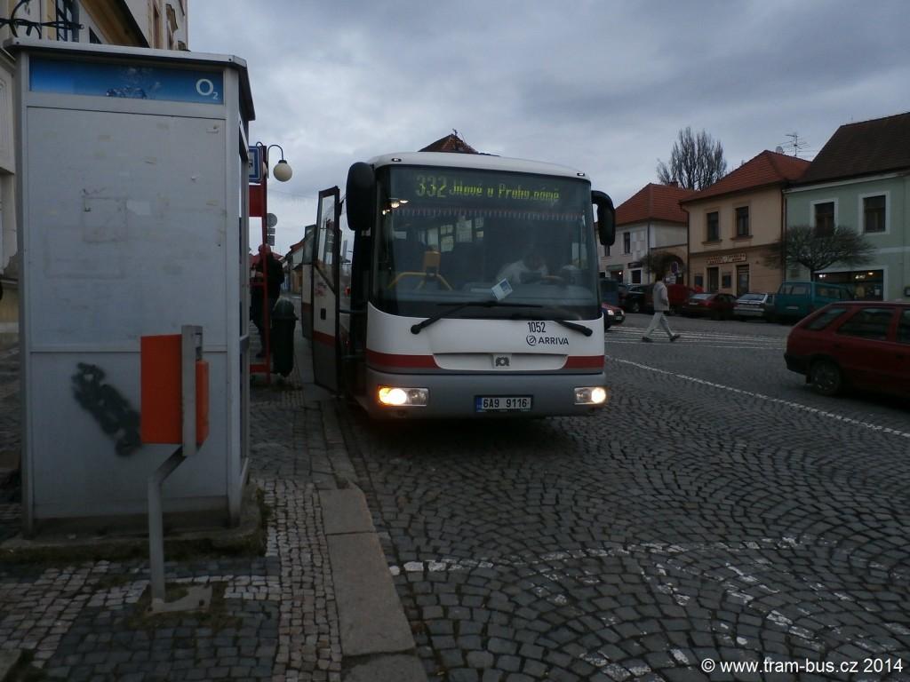 3025 - linka 332 Jílové u Prahy,,nám. Arriva Praha SOR C 10,5 1052 (9265)