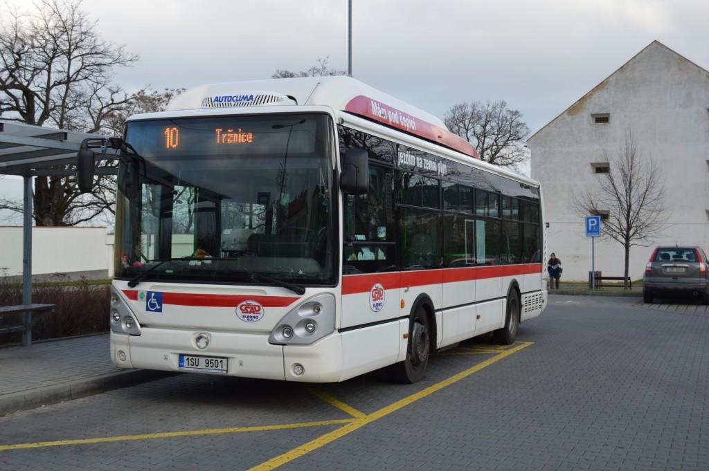 linka 10 Kladno,,Zádušní ČSAD MHD Kladno Irisbus Citelis 10,5m CNG 1SU 9501