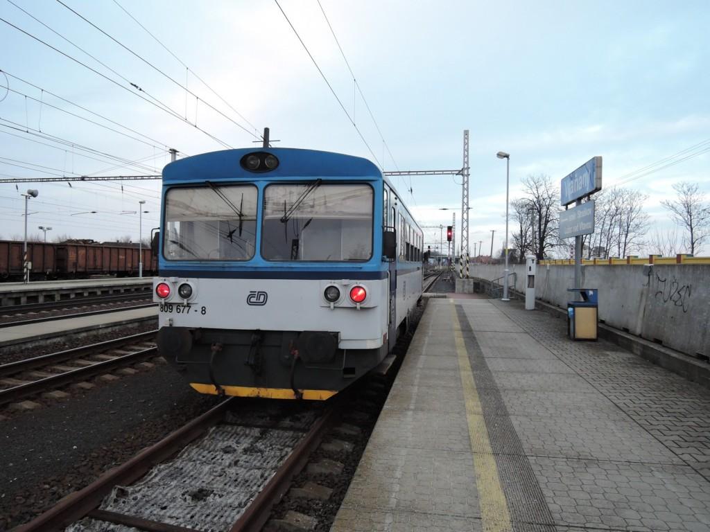 184 - trať 094 vůz 809 677-8 ČD Vraňany