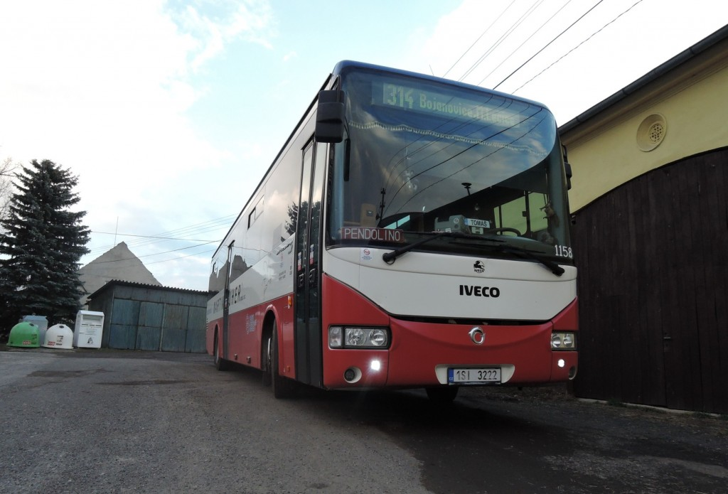 5525 - linka 314 Nová Ves p.Pleší Iveco Crossway 12M 1158