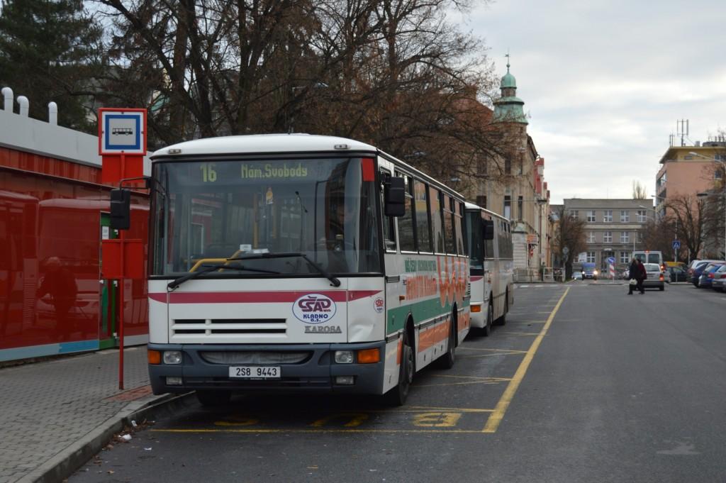 2S8 9443 - linka 3 Nám. Svobody ČSAD MHD Kladno Karosa B952
