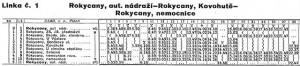 Linka MHD Rokycany 1 - 1990