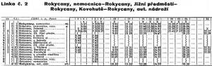Linka MHD Rokycany 2 - 1990