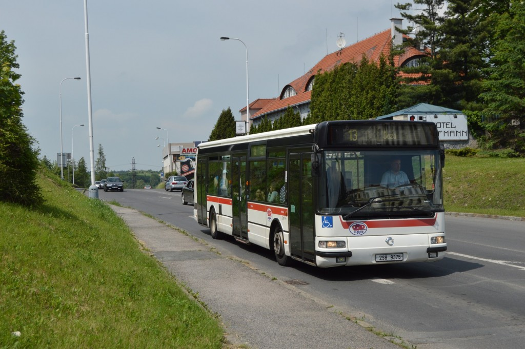 2S8 9375 - linka 225013 Aut. nádraží ČSAD MHD KLADNO Irisbus Citybus 12M