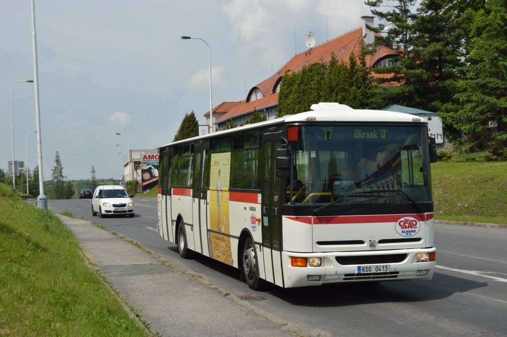 linka-11-Kladno,Aut. nádraží-ČSAD MHD Kladno-Karosa B952E 6S0 0413