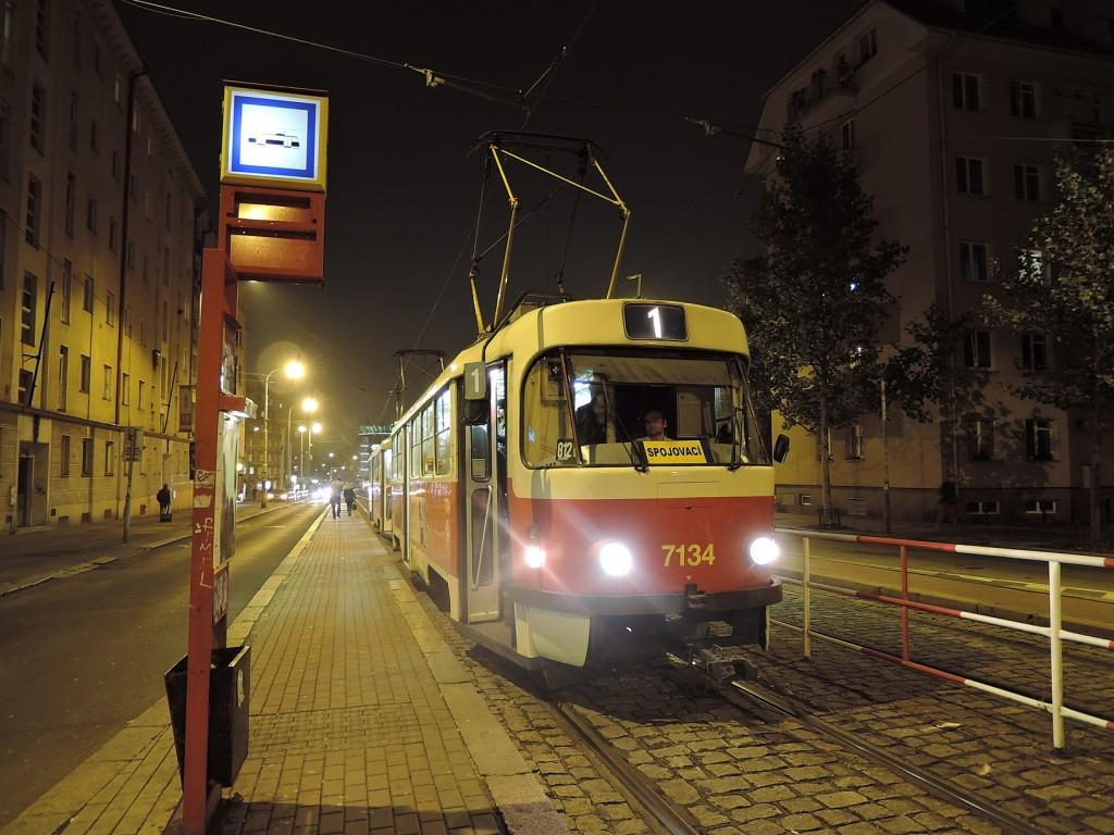 4656 - linka 1 Ohrada DPP Tatra T3SUCS 7134