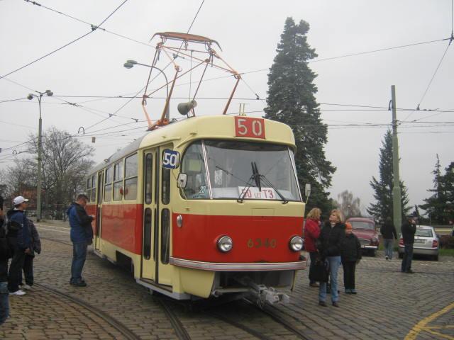 linka 50 T3 Vozovna Střešovice