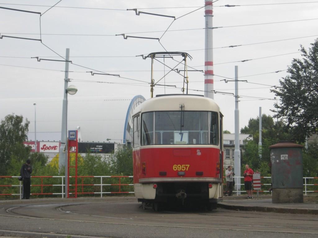 linka 7 T3 Ústřední dílny DP