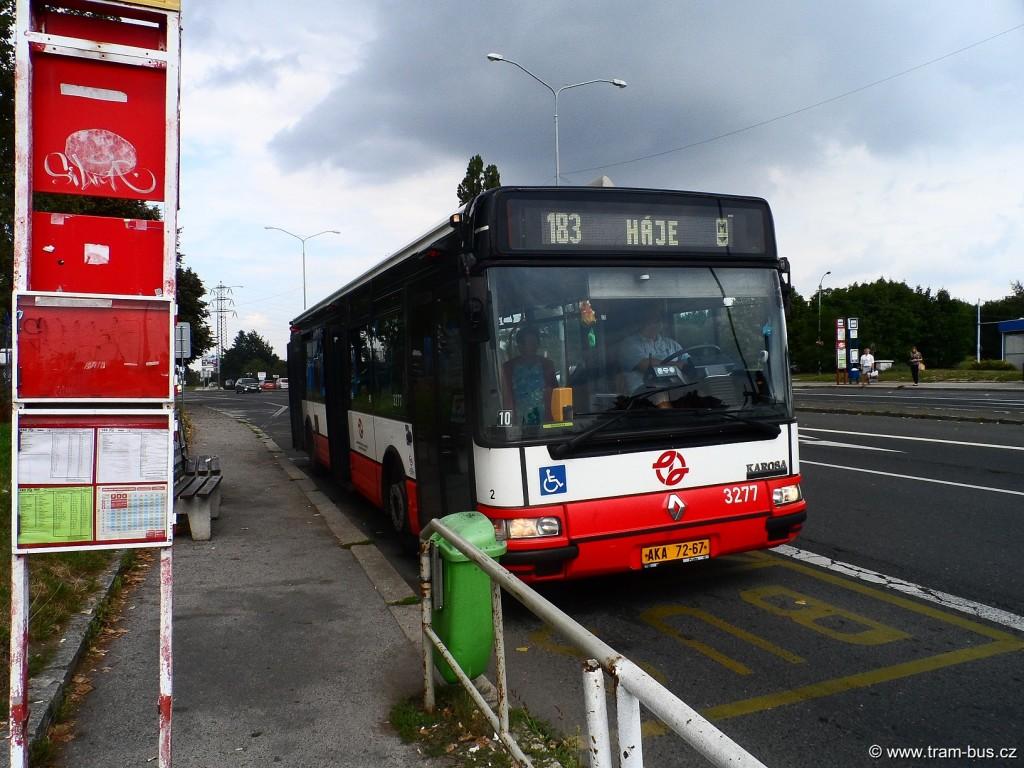 linka 183 Citybus 12M Vozovna Kobylisy 2014