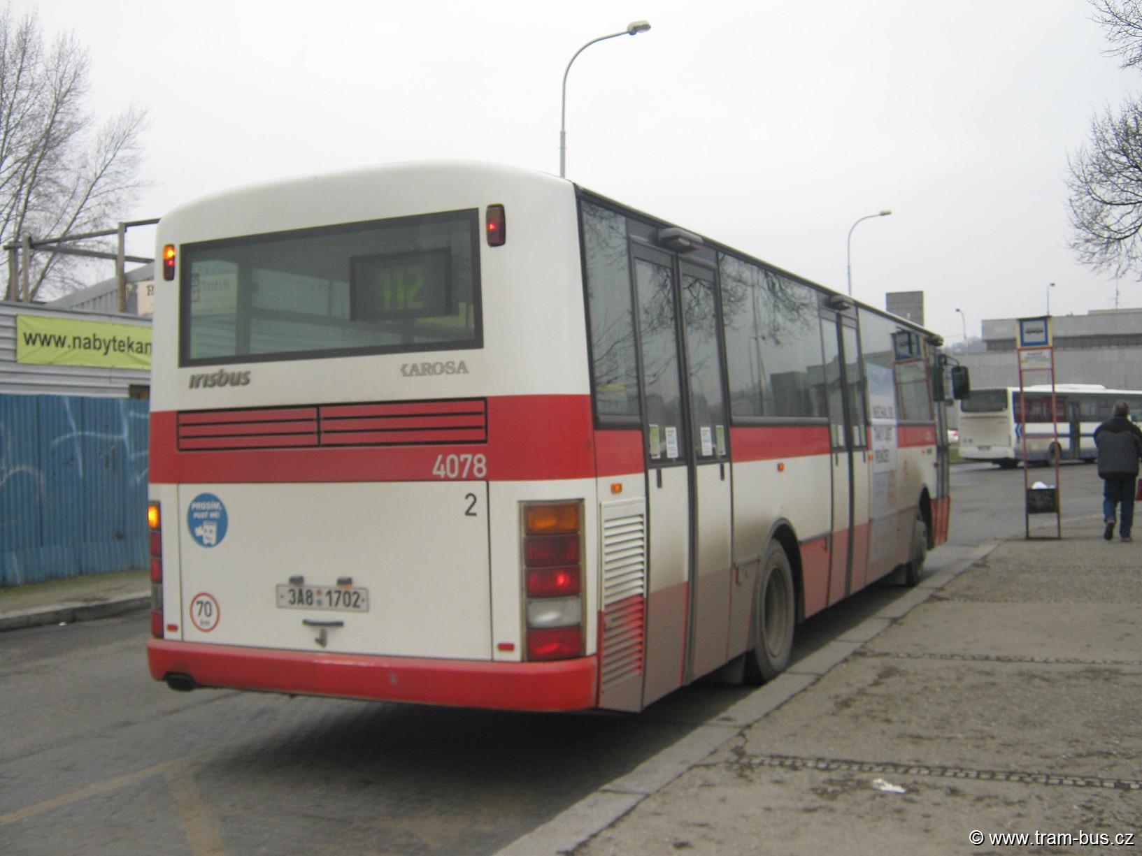linka 112 Karosa B 951 Nádraží Holešovice 2013