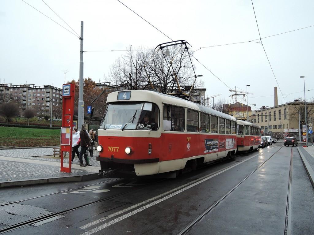 4962 - linka 4 Čechovo náměstí DPP Tatra T3SUCS 7077