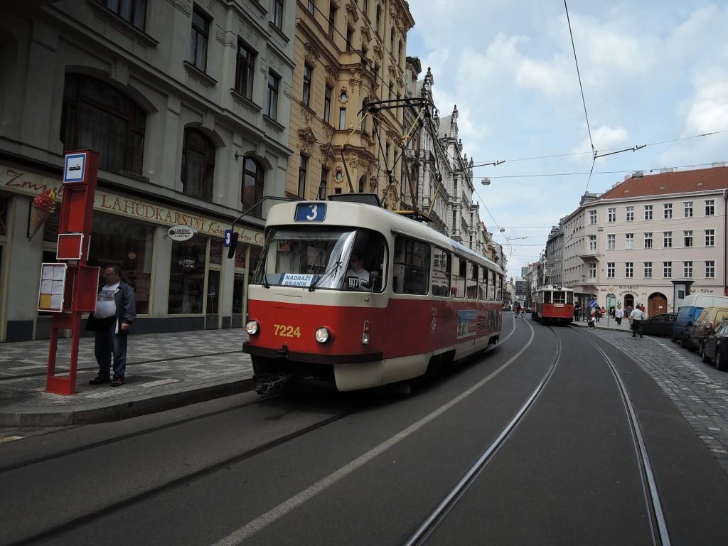 6460 - linka 3 Vodičkova DPP Tatra T3SUC 7224 + 1200