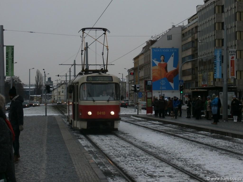 linka 5 Tatra T3R.P Hradčanská 2014