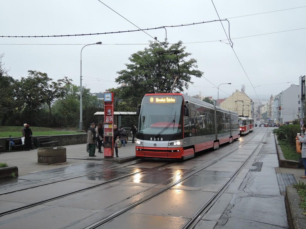 4671 - linka 8 Palmovka DPP Škoda 15T 9318