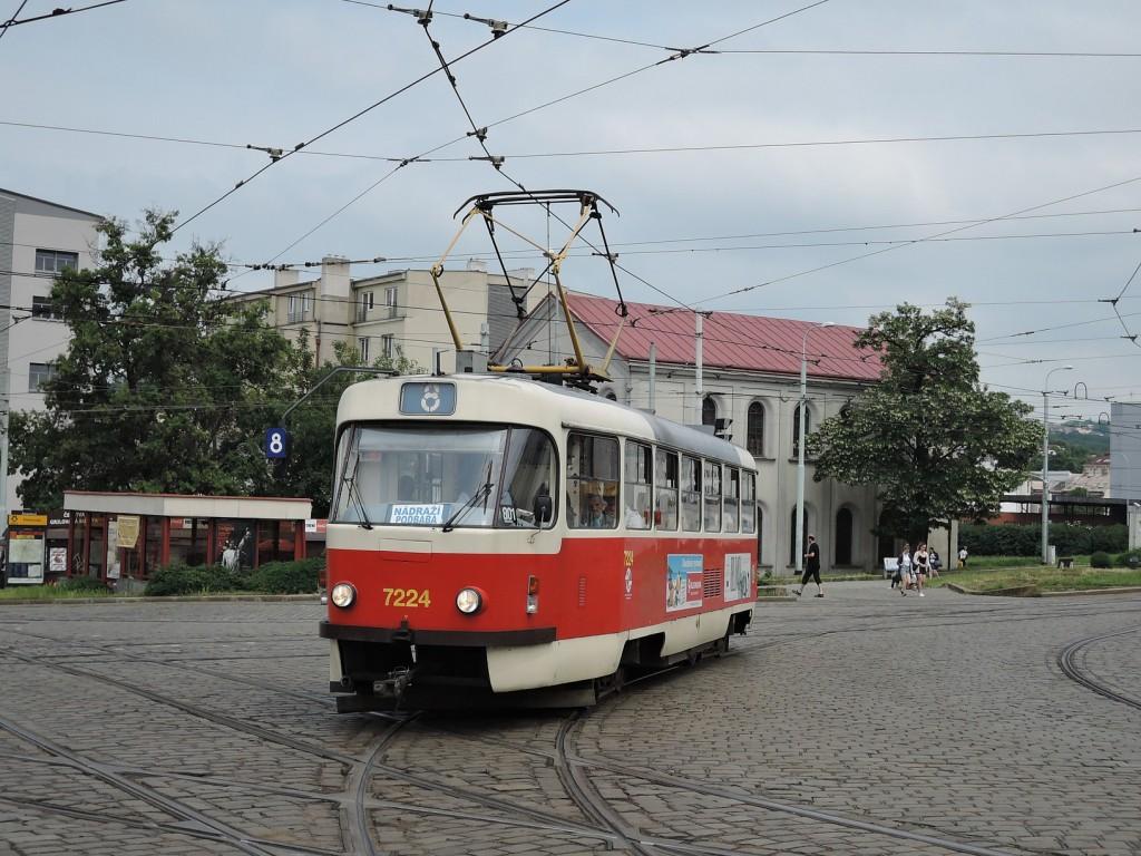 6448 - linka 8 Palmovka DPP Tatra T3SUCS-DVC 7224