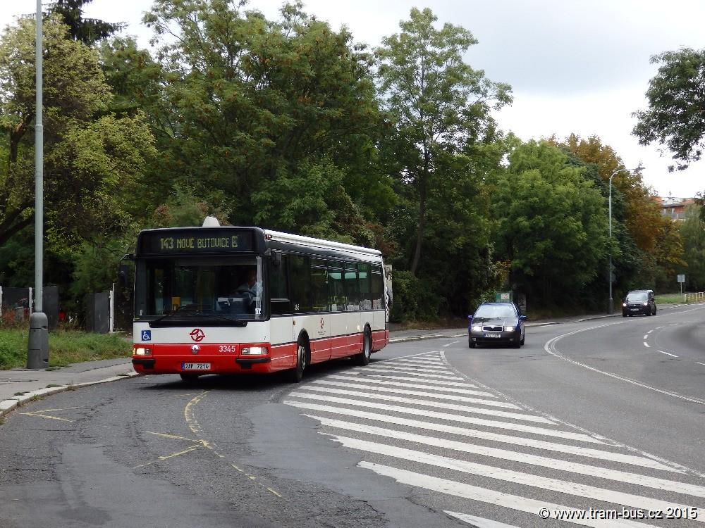 linka 143 Klamovka DPP Irisbus Citybus 12M 3345