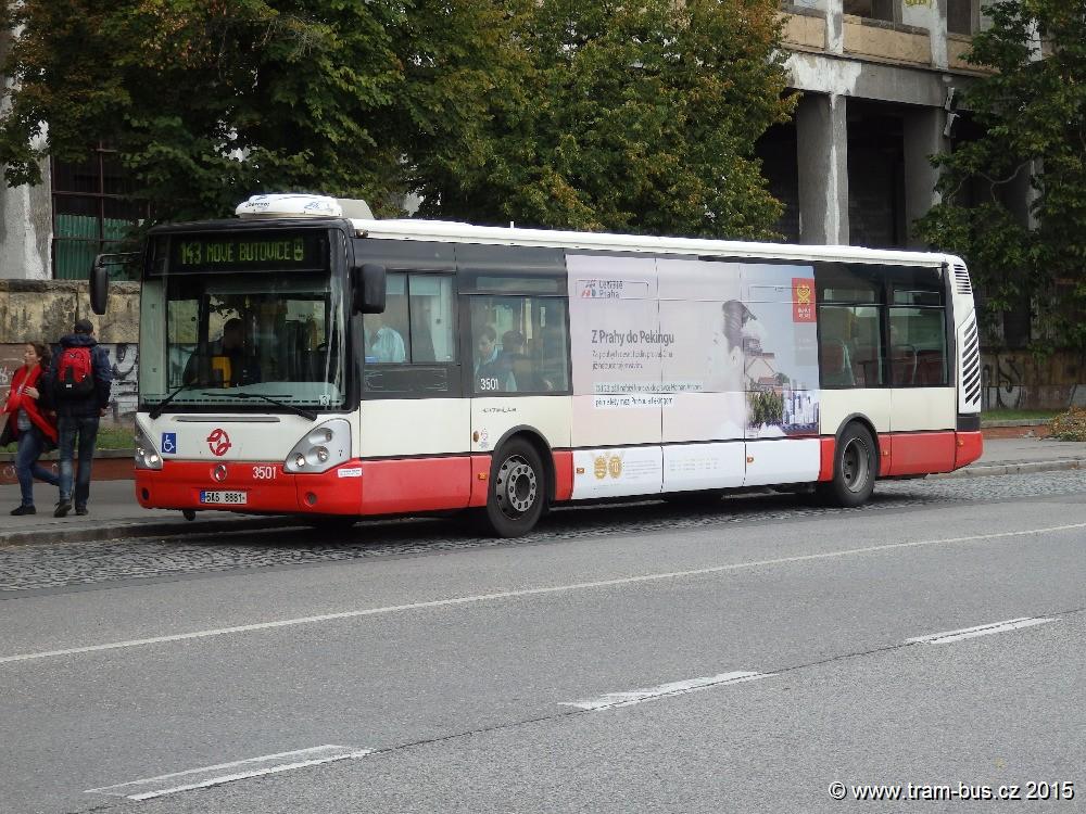 linka 143 Stadion Strahov DPP Irisbus Citelis 12M 3501