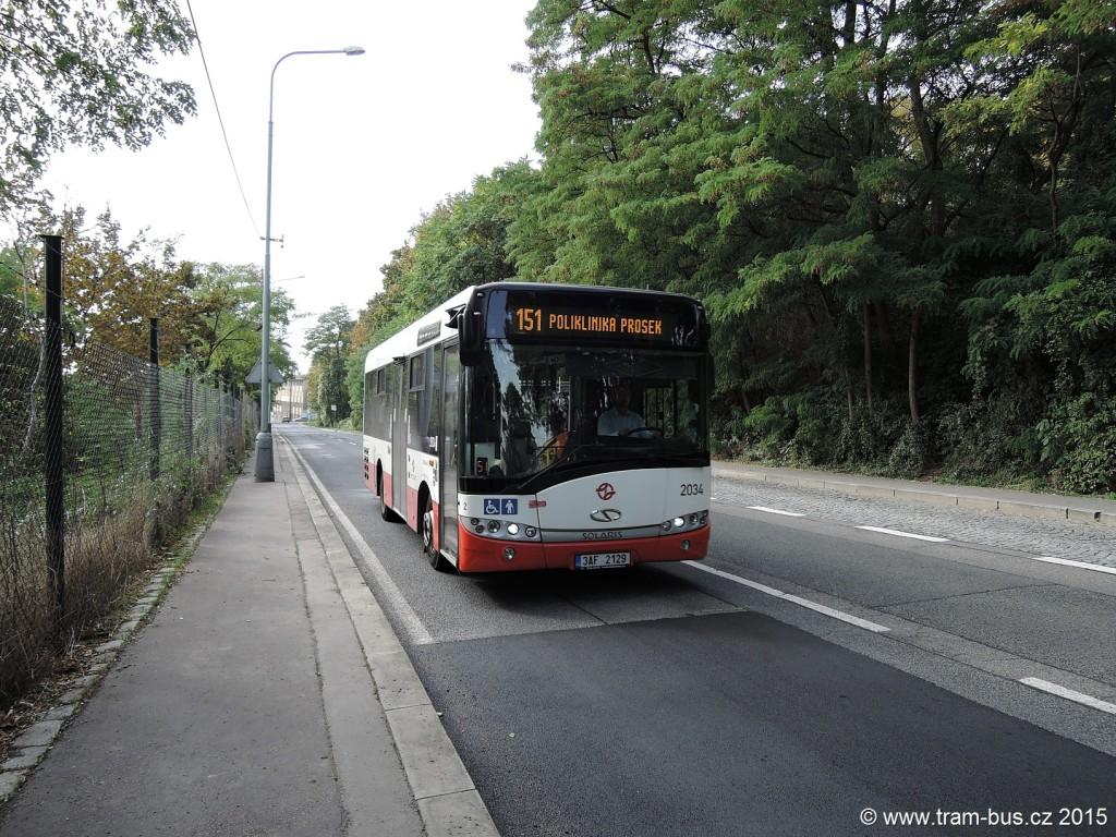 4567 - linka 151 Pod Krocínkou DPP Solaris Urbino 8.9 LE 2034