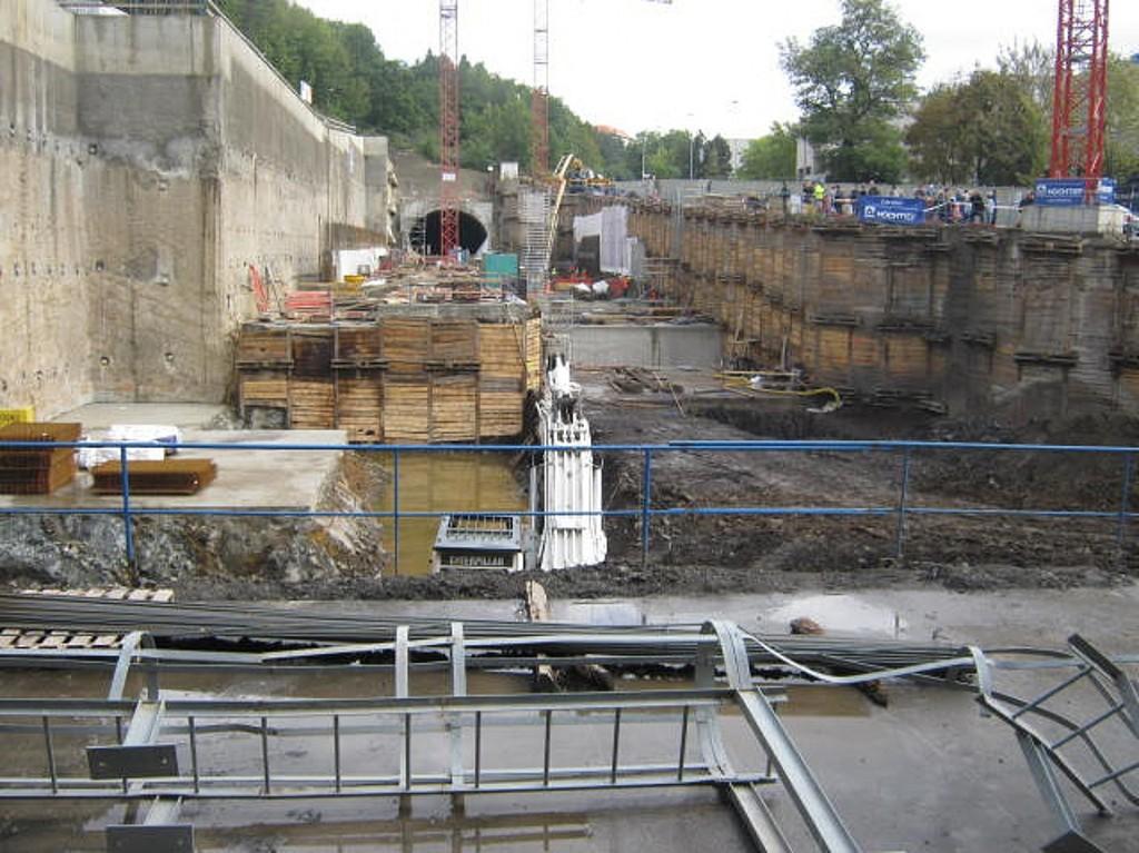 budoucí stanice metra Motol