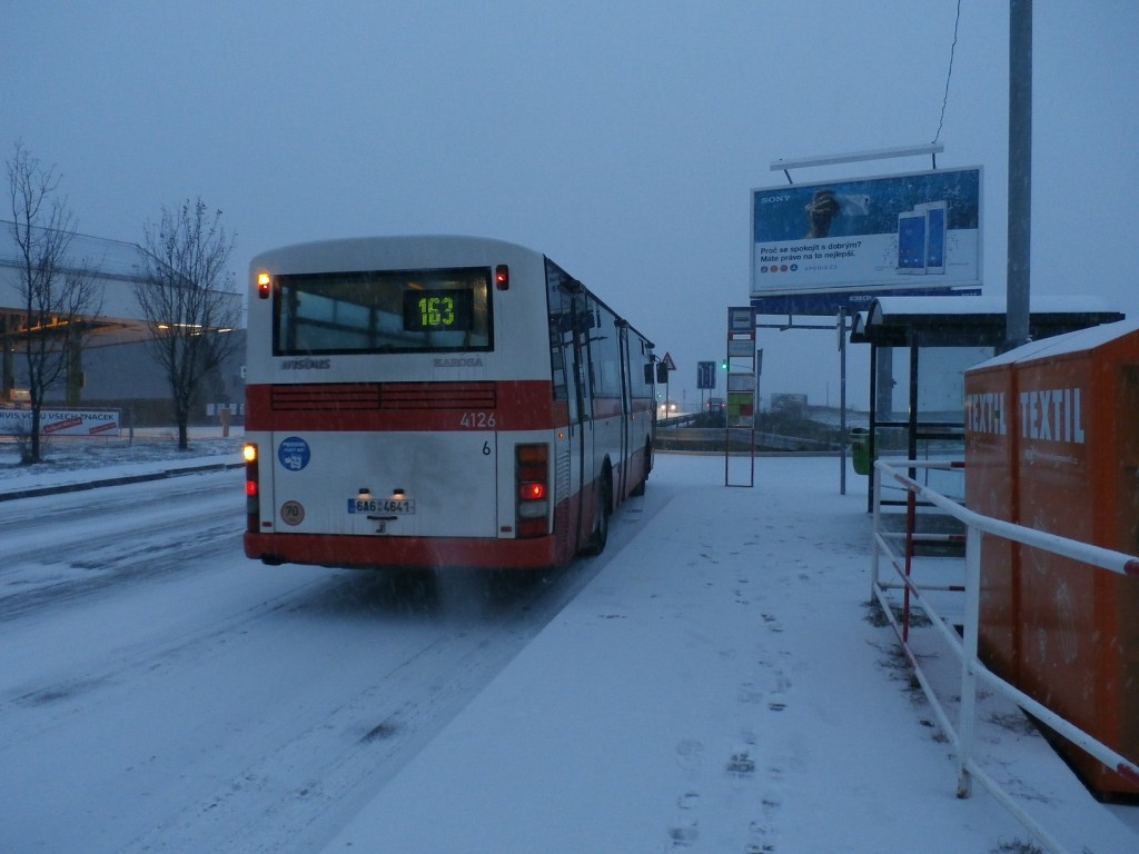 3078 - linka 163 Dolní Počernice DPP Karosa B 951 4126