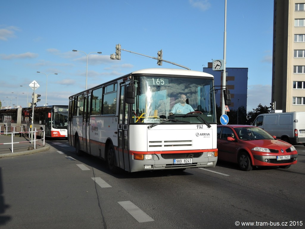 4763 - linka 165 Horčičkova Arriva Praha Karosa B 932 9141