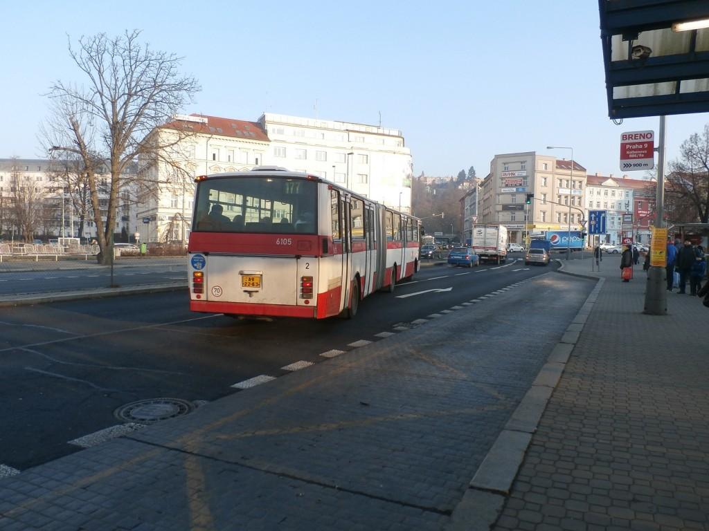 3443 - linka 177 Vysočanská DPP Karosa B 741 6105