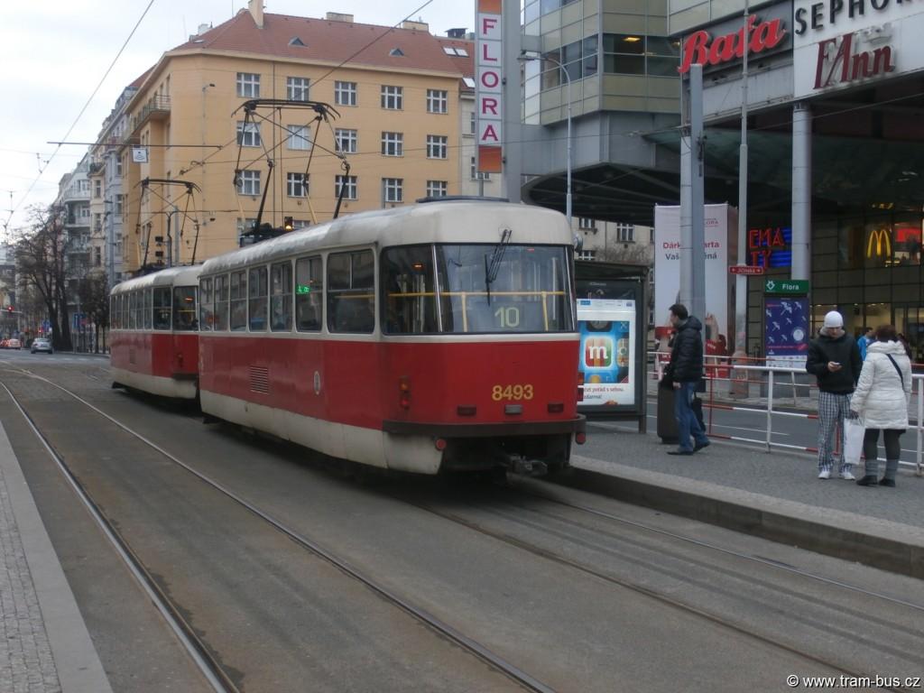 linka 10 Tatra T3R.P Flora 2015