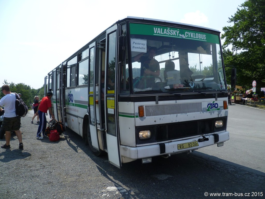 044 - linka 940099 Prostřední Bečva,,Pustevny konečná ČSAD Vsetín Karosa B 732 VS 82-30