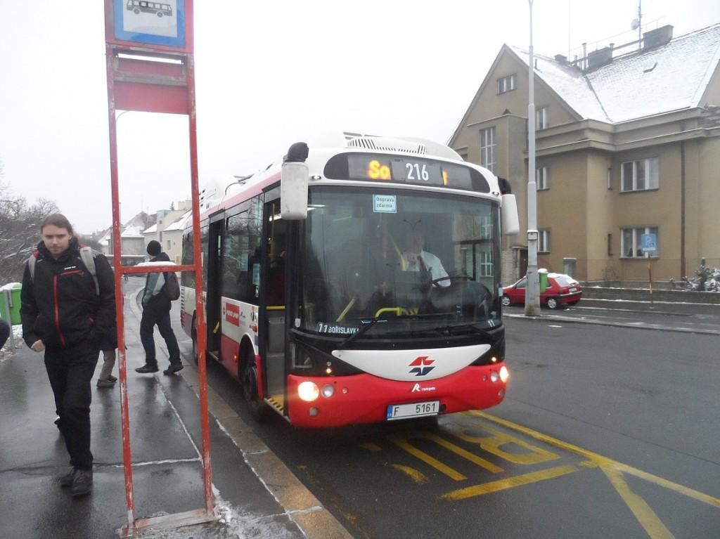 elektrobus na Bořislavce