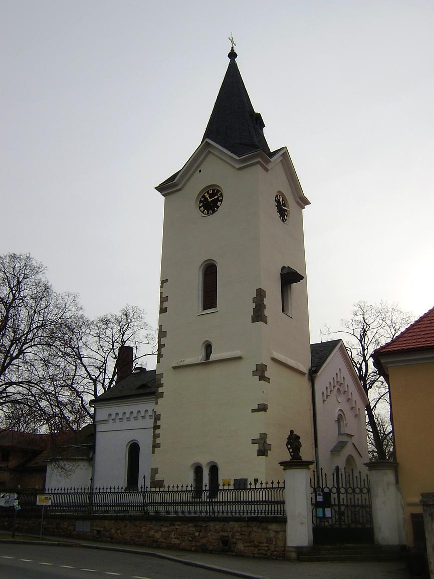 Dolní Počernice - kostel Nanebevzetí Panny Marie