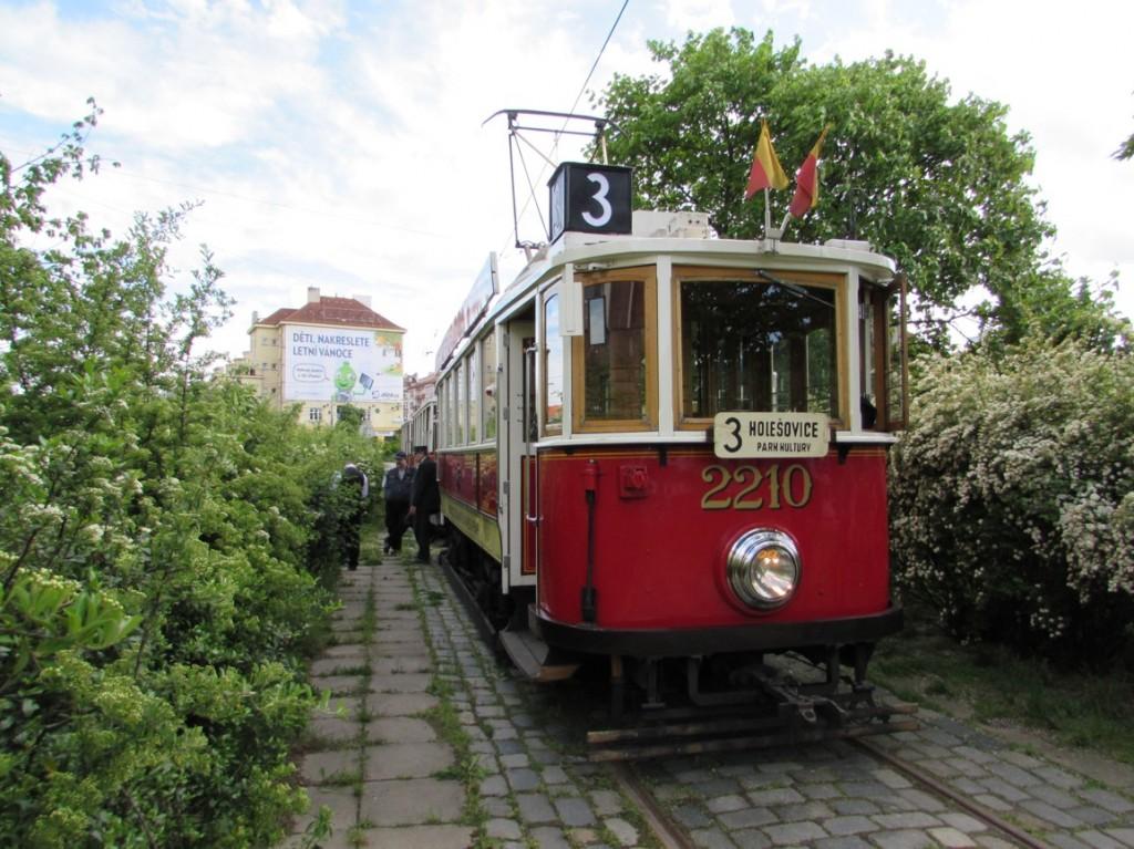 linka 3 na vozovně Pankrác