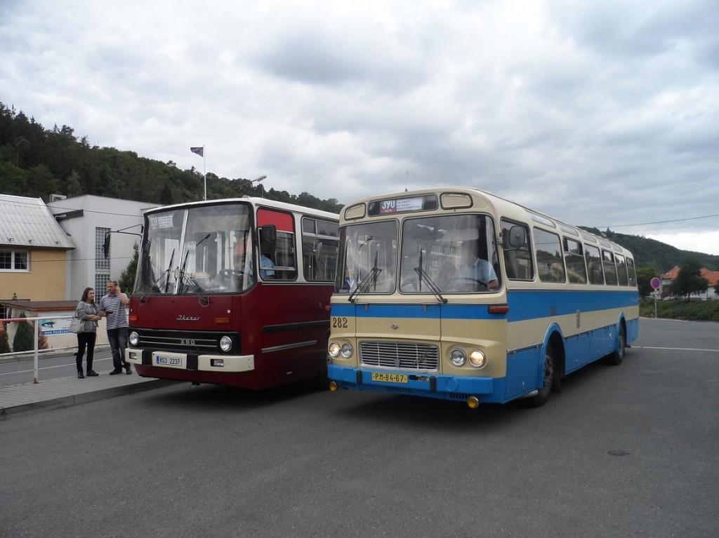 Ikarus 280 a Karosa ŠL 11 ve Štěchovicích