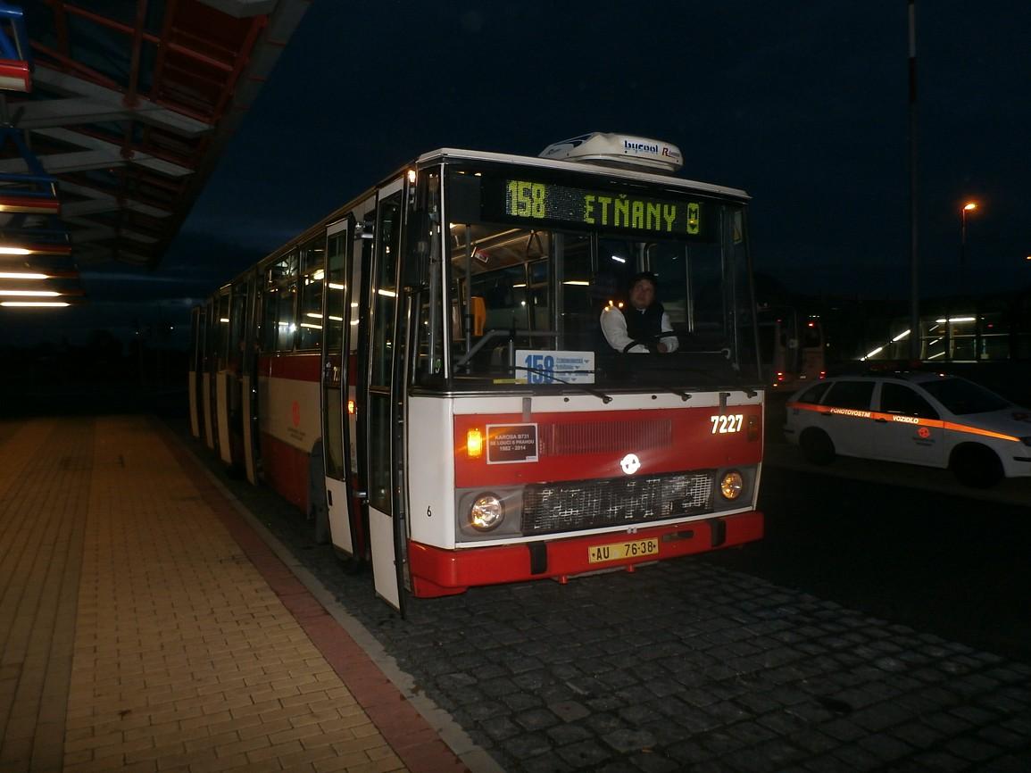 B 731 na Letňanech linka 158