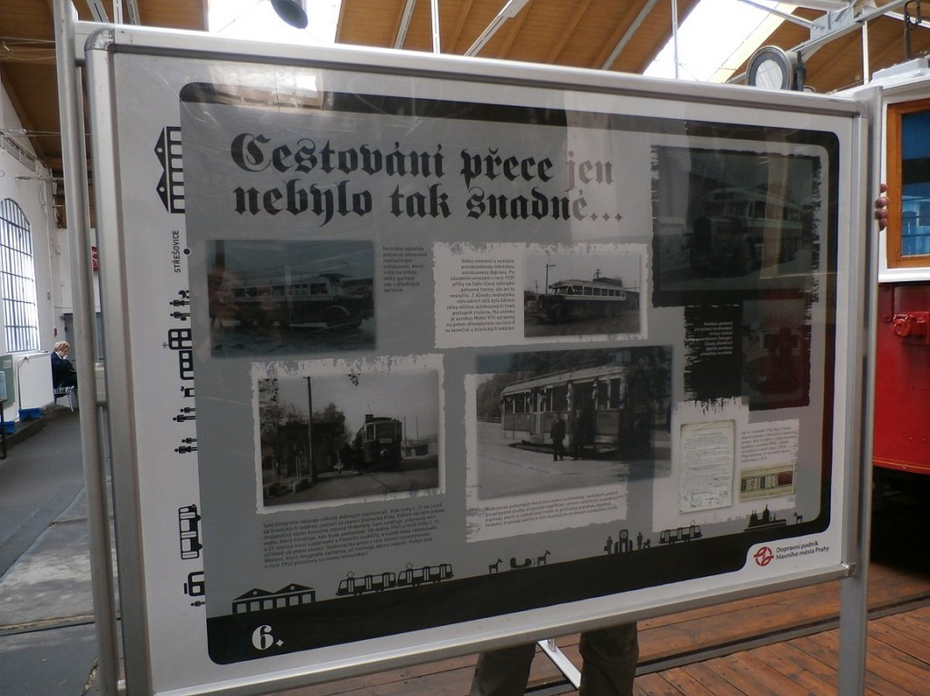 """výstava """"MHD za protektoriátu Čechy a Morava"""""""