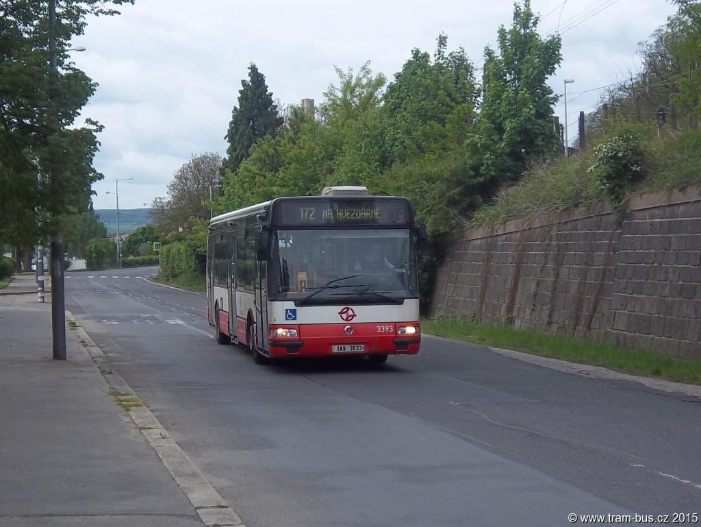 172 Citybus 3393 Závodiště Chuchle 2015