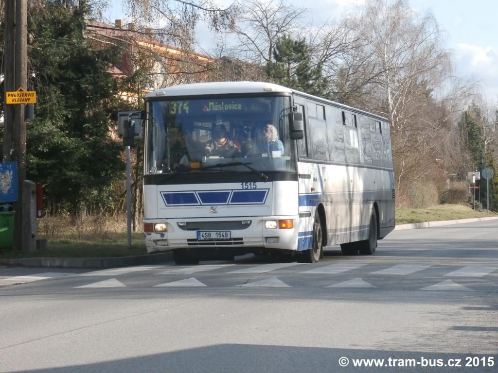 3215 - linka 374 DPP Klecany,,u hřbitova ČSAD SČ Karosa C 954 1515