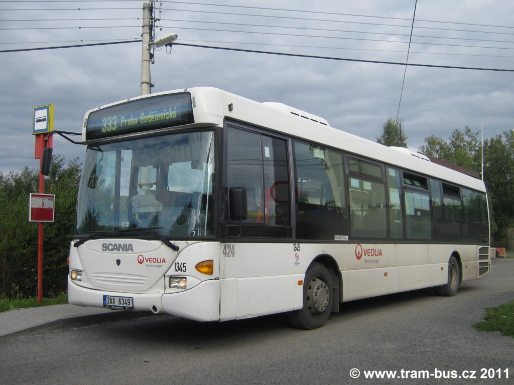 184 - linka 333 Březová,Oleško,Oleško Veolia Transport (Arriva Praha) Scania CL94UB OmniLink 1345