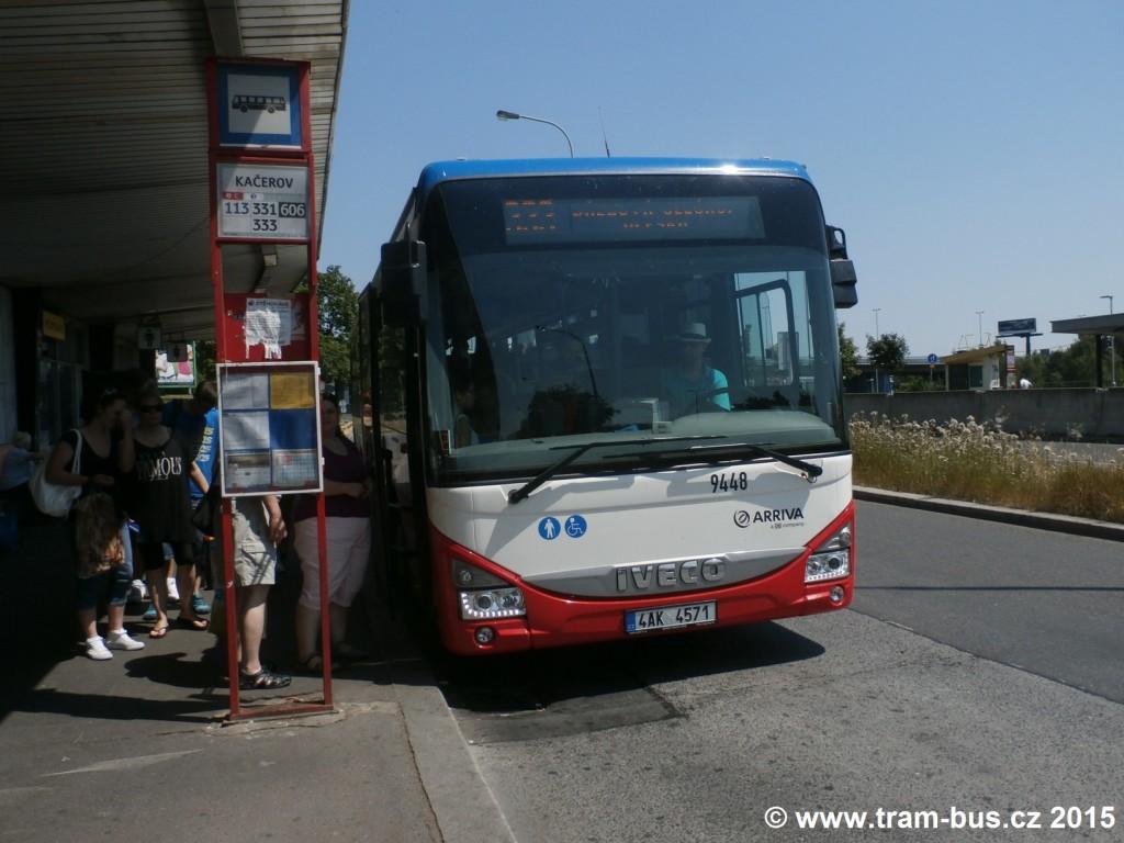 4082 - linka 333 Kačerov Arriva Praha Iveco Crossway LE LINE 12M 9448