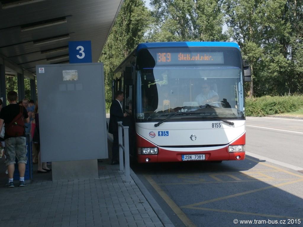 3999 - linka 369 Mělník,,aut,st, ČSAD SČ Iveco Crossway LE 12M 8155